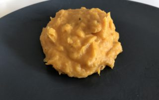 purée de patate douce au citron vert