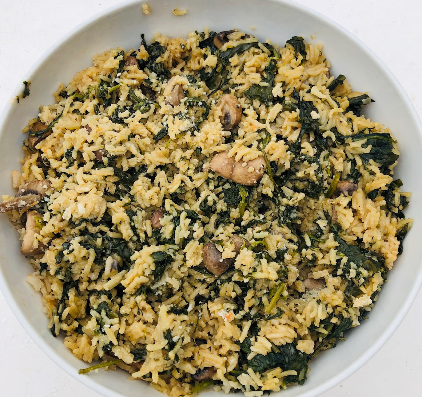 risotto champignons épinard
