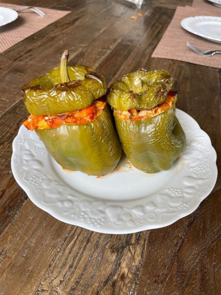 poivrons farcis aux légumes et chorizo